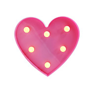 BRELONG 3D Warm White Kids Room Decoration Night Light Christmas Light Wedding Decorative Light - Heart