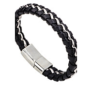 Men's Women's Leather Bracelet Fashion Simple Style Leather Alloy Round Jewelry For Casual Going out