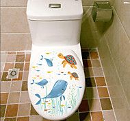 cheap -Animals Fashion Landscape Wall Stickers Plane Wall Stickers Decorative Wall Stickers Toilet Stickers,Plastic Material Home Decoration
