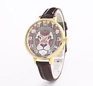 Жен. Модные часы Наручные часы Кварцевый Кожа Группа Повседневная Черный Белый Синий Серебристый металл Красный Коричневый Золотистый