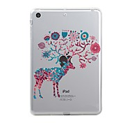 cheap -Case For Apple iPad Mini 4 iPad Mini 3/2/1 iPad 4/3/2 iPad Air 2 iPad Air iPad (2017) Transparent Pattern Back Cover Christmas Soft TPU