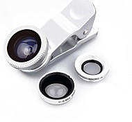 SHUOTU STJT0001 Mobile Phone 180 Fish-Eye Lens 0.65X Wide-Angle Lens 10X Macro Lens Aluminium Alloy Glass For Android Cellphone iPhone