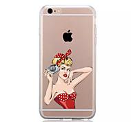 Недорогие -Кейс для Назначение iPhone 7 Plus IPhone 7 iPhone 6s Plus iPhone 6 Plus iPhone 6s iPhone 6 Apple iPhone X iPhone X iPhone 8 Прозрачный С
