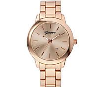 Муж. Модные часы Кварцевый сплав Группа Повседневная Черный Серебристый металл Золотистый Розовое золото