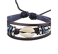 Men's Women's Leather Bracelet Fashion Personalized Leather Round Jewelry For Casual Club