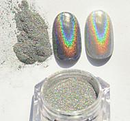 1g colorido super flash pó laser prata flash pó metal unha