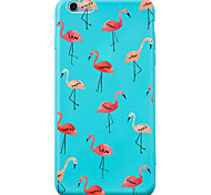 Para iPhone 7 iPhone 7 Plus Carcasa Funda Antigolpes Diseños Cubierta Trasera Funda Flamenco Animal Suave Silicona para Apple iPhone 7