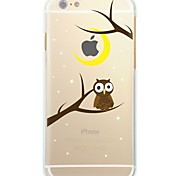 cheap -Case For Apple iPhone X iPhone 8 Ultra-thin Transparent Pattern Back Cover Tree Owl Soft TPU for iPhone X iPhone 8 Plus iPhone 8 iPhone 7