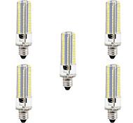 cheap -BRELONG® 5pcs 8W 700lm E14 LED Corn Lights 152 LED Beads SMD 3014 Dimmable Warm White White 220V 110V