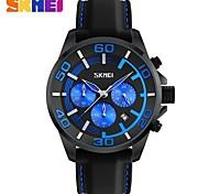 SKMEI Муж. Наручные часы Модные часы Кварцевый силиконовый Группа Черный