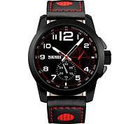hombres de la marca de fábrica de la manera del skmei miran los relojes ocasionales del cuarzo relojes genuinos del negocio de la correa