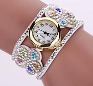 Women's Fashion Watch Simulated Diamond Watch Bracelet Watch Chinese Quartz Imitation Diamond PU Band Bohemian Charm Elegant Casual Black