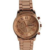 Недорогие -Муж. Модные часы Наручные часы Японский Кварцевый / сплав Группа Повседневная Элегантные часы Розовое золото