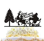 inserts de gâteau acrylique arbre de noël arbre de noël décoration de gâteau de noel