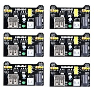 Недорогие -mb102 3.3v / 5v макет модуля питания для платы arduino для пайки (пакет из 6)