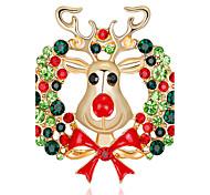 Жен. Броши Стразы Мода Chrismas Сплав Бижутерия Бижутерия Назначение Рождество