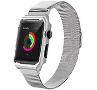 Недорогие -нержавеющая сталь замена ремень iwatch магнитная лента с металлической крышкой корпуса для серии часов яблока 2 серии 1 (42 мм силивер)