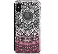 For iPhone X iPhone 8 iPhone 8 Plus Case Cover Ultra-thin Transparent Pattern Back Cover Case Mandala Lace Printing Soft TPU for Apple