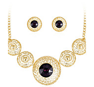 cheap -Women's Stud Earrings Necklace Crystal Rhinestone Luxury Fashion Party Crystal Rhinestone Drop Necklace Earrings
