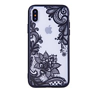 cheap -Case For Apple iPhone X iPhone 8 Pattern Back Cover Lace Printing Hard PC for iPhone X iPhone 8 Plus iPhone 8 iPhone 7 Plus iPhone 7