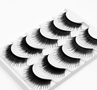 cheap -5 Daily Makeup Full Strip Lashes Thick Lengthens the End of the Eye Makeup Tools High Quality Daily
