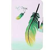 Недорогие -перья шаблон карты держатель кошелек с подставкой флип магнитный кожаный чехол pu для Samsung Galaxy Tab 10,1 t580n t585n 10,1-дюймовый
