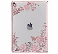 cas pour apple ipad6 ipad silicone de qualité supérieure manchon de protection air2 couverture d'impression coque plate molle