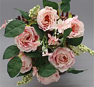 1 ветка из шелковых роз настольный цветок украшают искусственные цветы