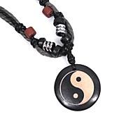 cheap -Men's Round Choker Necklace Pendant Necklace Horns Wood Choker Necklace Pendant Necklace , Casual Street