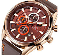 Men's Sport Watch Fashion Watch Wrist watch Japanese Quartz Calendar Stopwatch Noctilucent Genuine Leather Band Luxury Cool Casual Black