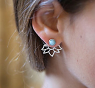 cheap -Women's Flower Front Back Earrings - Vintage / Fashion Gold / Silver Earrings For Daily