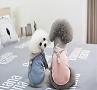 Недорогие -Рождество Одежда для собак На каждый день Однотонный Синий Розовый Костюм Для домашних животных