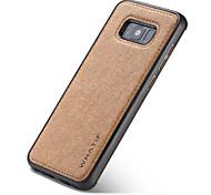 Недорогие -Кейс для Назначение SSamsung Galaxy S8 Plus S8 Магнитный Кейс на заднюю панель Сплошной цвет Твердый ПК для S8 Plus S8 S7 edge