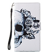 cheap -Case For Sony Card Holder Wallet with Stand Flip Magnetic Pattern Full Body Cases Skull Hard PU Leather for Sony Xperia L1 Sony