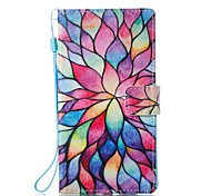 cheap -Case For Sony Card Holder Wallet with Stand Flip Magnetic Pattern Full Body Cases Flower Hard PU Leather for Sony Xperia L1 Sony