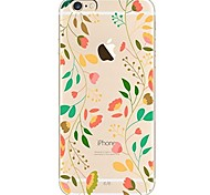 cheap -Case For iPhone X iPhone 8 Ultra-thin Transparent Pattern Back Cover Tree Flower Soft TPU for iPhone X iPhone 8 Plus iPhone 8 iPhone 7