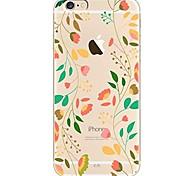 Недорогие -Кейс для Назначение iPhone X iPhone 8 Ультратонкий Прозрачный С узором Задняя крышка дерево Цветы Мягкий TPU для iPhone X iPhone 8 Plus
