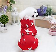 Собака Плащи Одежда для собак Дышащий Стиль Уникальный дизайн Сохраняет тепло Для отдыха Мода С геометрическим рисунком Звезды Пурпурный