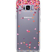 Case For Samsung Galaxy S8 Plus S8 Transparent Pattern Back Cover Heart Soft TPU for S8 S8 Plus S7 edge S7 S6 edge plus S6 edge S6 S6