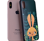Para iPhone X iPhone 8 Case Tampa Estampada Capa Traseira Capinha Animal Desenho Animado Macia Silicone para Apple iPhone X iPhone 8 Plus