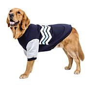Собака Толстовка Одежда для собак С логотипом На каждый день Сохраняет тепло Мода Новый год Контрастных цветов Красный Зеленый Синий