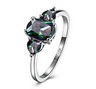 cheap -Men's Zircon Heart Band Ring - Oval Assorted Color Ring For Party / Engagement / Daily