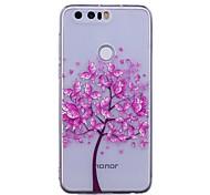 Недорогие -Кейс для Назначение Huawei P9 Lite Huawei Huawei P8 Lite P10 Lite IMD Прозрачный С узором Кейс на заднюю панель Бабочка дерево Мягкий ТПУ