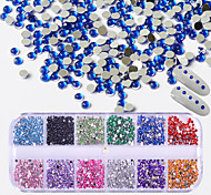 cheap -1 Glitter Rhinestones Nail Jewelry Crystal Artistic Fashionable Jewelry Round Luxury Geometric Jeweled Accessories Glam Cute Creative
