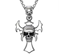 Men's Women's Pendant Necklaces Cross Skull Stainless Steel Personalized Cross Jewelry For Going out Street
