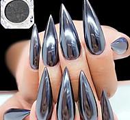 0,5 g / flasche schwarz spiegeleffekt dekoration 3d nail art glitter