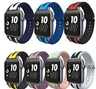 fascia da orologio per orologio da mela 3 serie 1 2 cinturino sportivo di sostituzione del camuffamento in silicone con adattatore 38mm