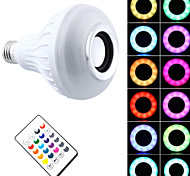 1 pezzo 7W E27 Lampadine LED smart PAR30 26 leds SMD 5050 Bluetooth Oscurabile Controllo a distanza Decorativo RGB + Bianco 500lm