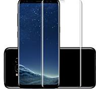 Displayschutzfolie für Samsung Galaxy S8 Hartglas Vorderer Bildschirmschutz High Definition (HD) 9H Härtegrad Kratzfest 3D abgerundete