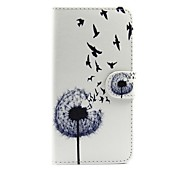 cheap -Case For Moto G Motorola MOTO G5 Card Holder Wallet with Stand Flip Full Body Cases Dandelion Hard PU Leather for Moto G5 Moto G3 Moto E